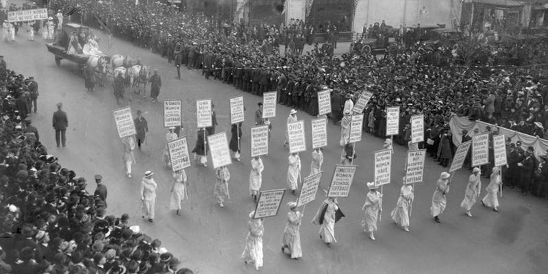Suffragists Marching