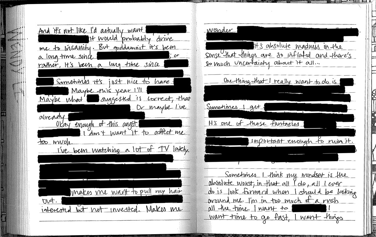 redacted journal