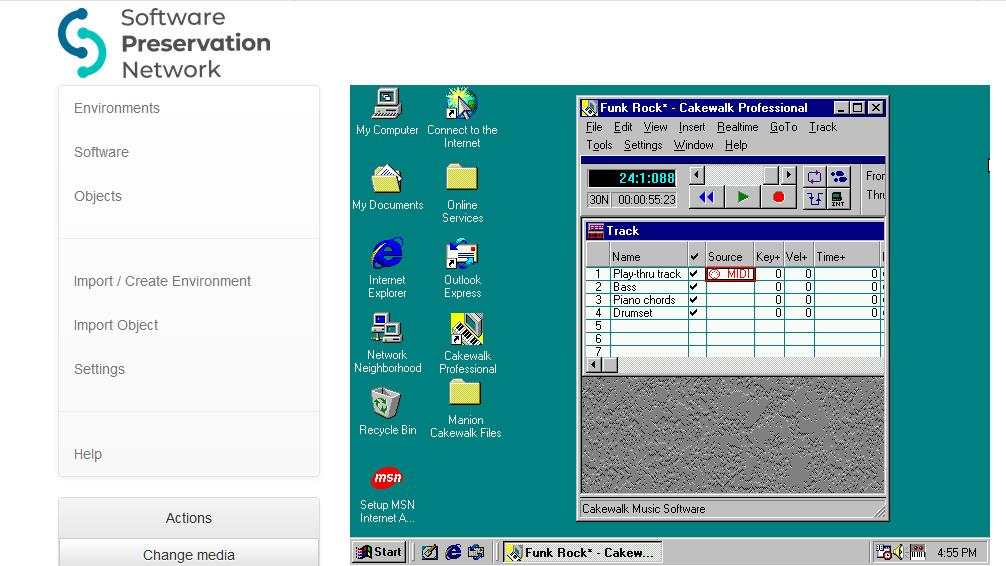 Cakewalk in Windows98