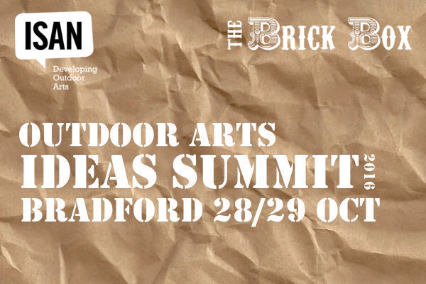 Outdoor Arts Ideas Summit 2016 Artist and Delegate registration NOW OPEN!
