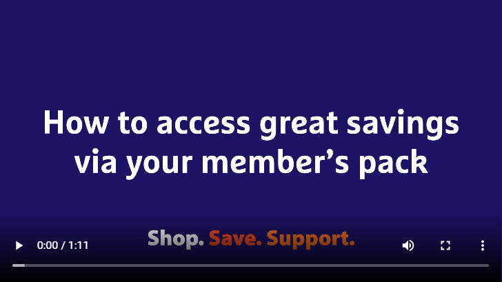 How to access great savings via your member's pack?