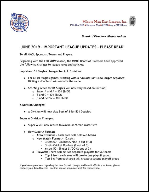 League Updates