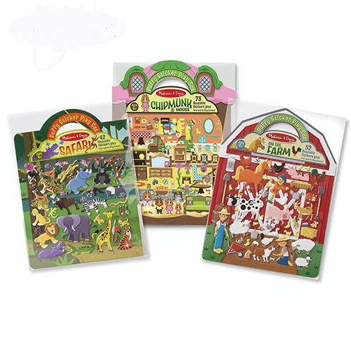 Reusable Puffy Sticker Playset