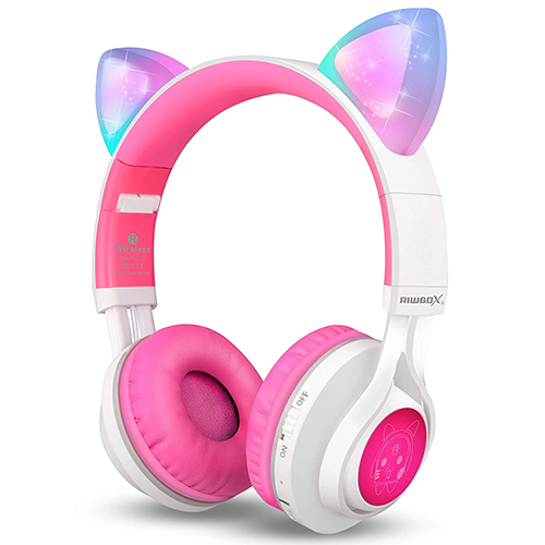 Bluetooth Lightup Cat Ear Headphones