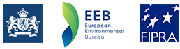 Logos of the Permanent Representation of the Netherlands to the EU, European Environmental Bureau and Fipra