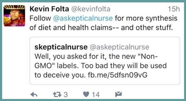 Kevin Folta in bed with fake nurse