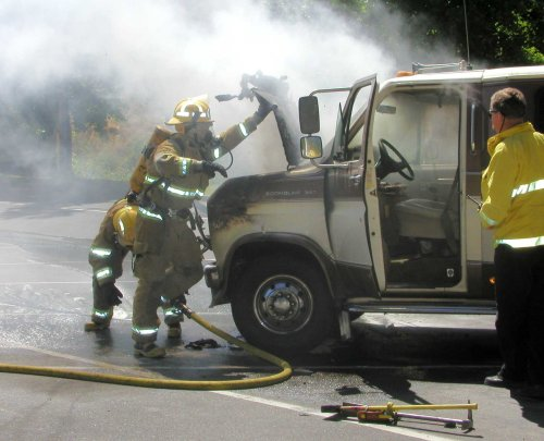 Ford Van Fire