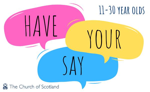 Have your say survey speech bubbles