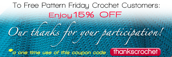 Free Pattern Friday Customer Appreciation Crochet Discount