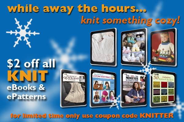 Use the Code Knitter to save $2 off patterns