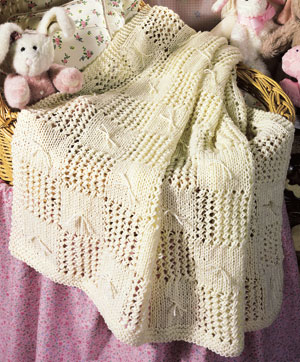Patchwork baby afghan knitting pattern