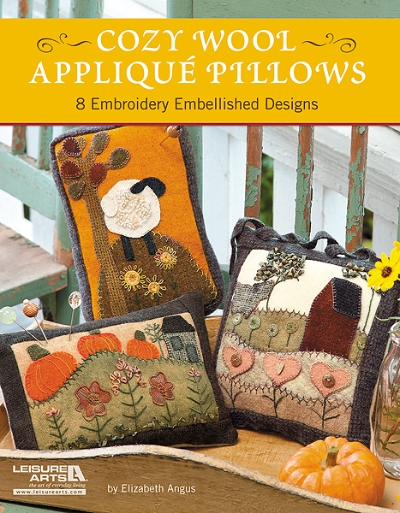 Cozy Wool Applique Pillows