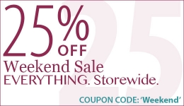 25% Off Weekend Sale