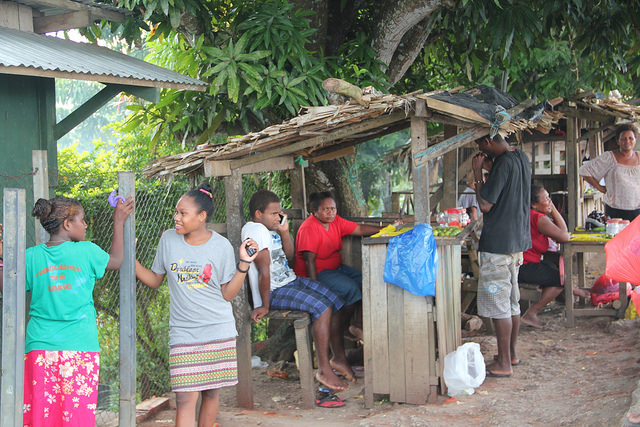 Solomon Islands roadside stands