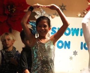 Rachel dancing
