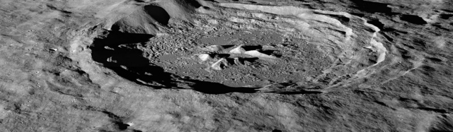 Impact crater on the Moon (NASA photo)