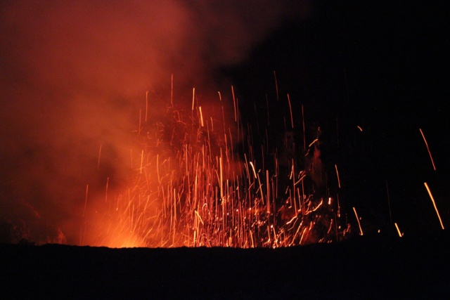 Mount Yasur at night