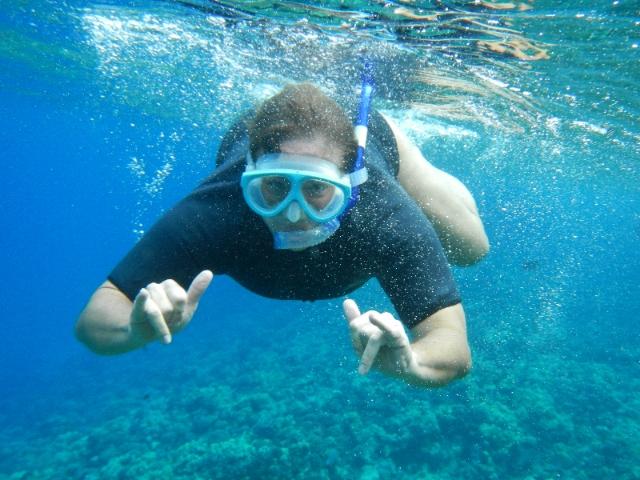 Lori snorkeling
