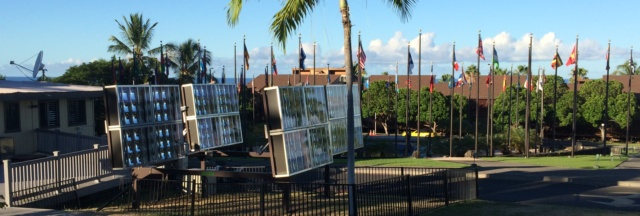 Solar collectors at U of N Kona
