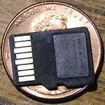 Bible library on a micro SD card