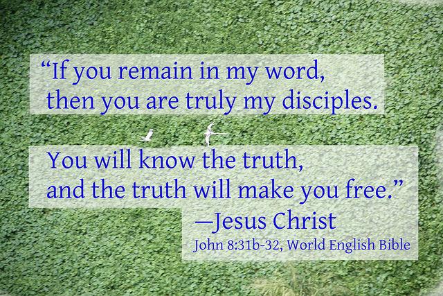 John 8:31b-32