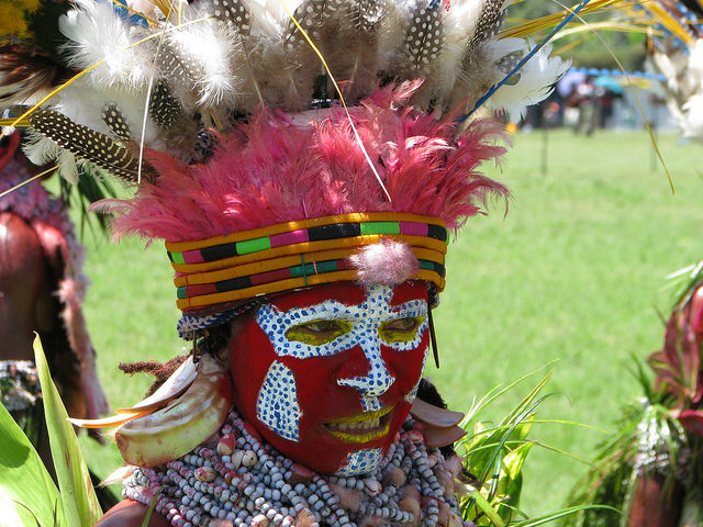 Woman from the Western Highlands Province of Papua New Guinea