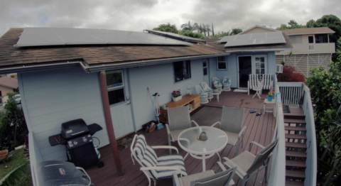 Solar panels and back deck
