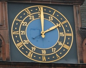 Marburg Town Hall Clock
