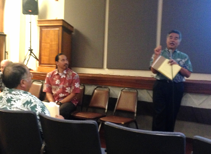 Governor Ige and CIO Kali address state personnel who will continue to be the driving force of the SURF program.