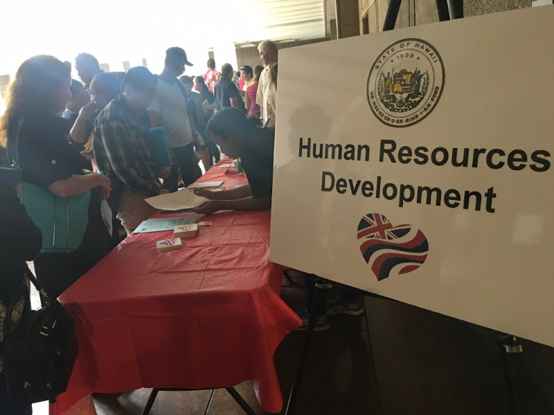 DHRD booth at State Job Fair