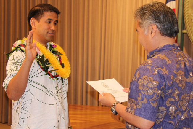 Todd Nacapuy takes the CIO oath of office