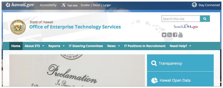 ETS website
