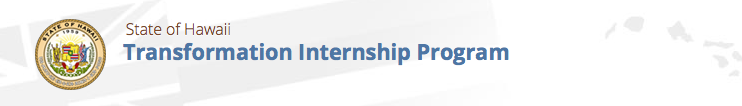 Transformation Intership Program banner
