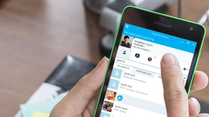 Skype via mobile
