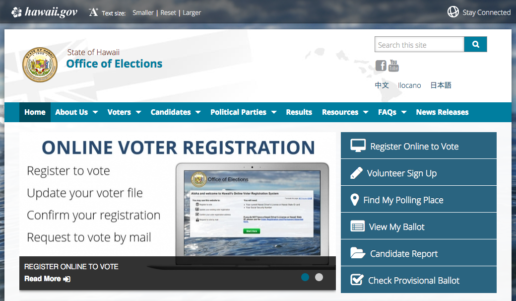 Office of Elections website