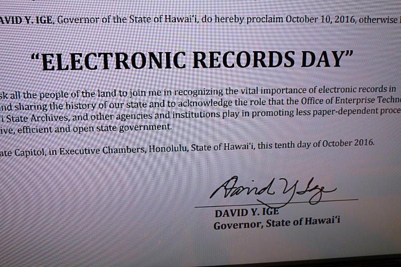 Gov. Ige's electronic signature