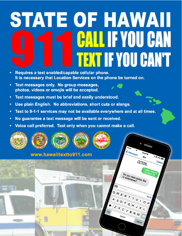 Text-to-911 flyer