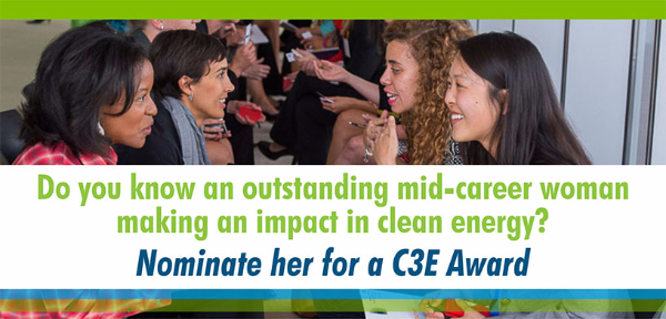 Nominate a woman for a C3E Award