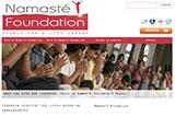Namasté Foundation nieuwe website