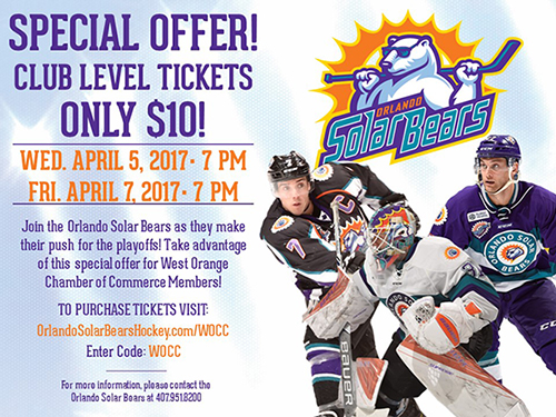 Orlando Solar Bears $10 Tickets