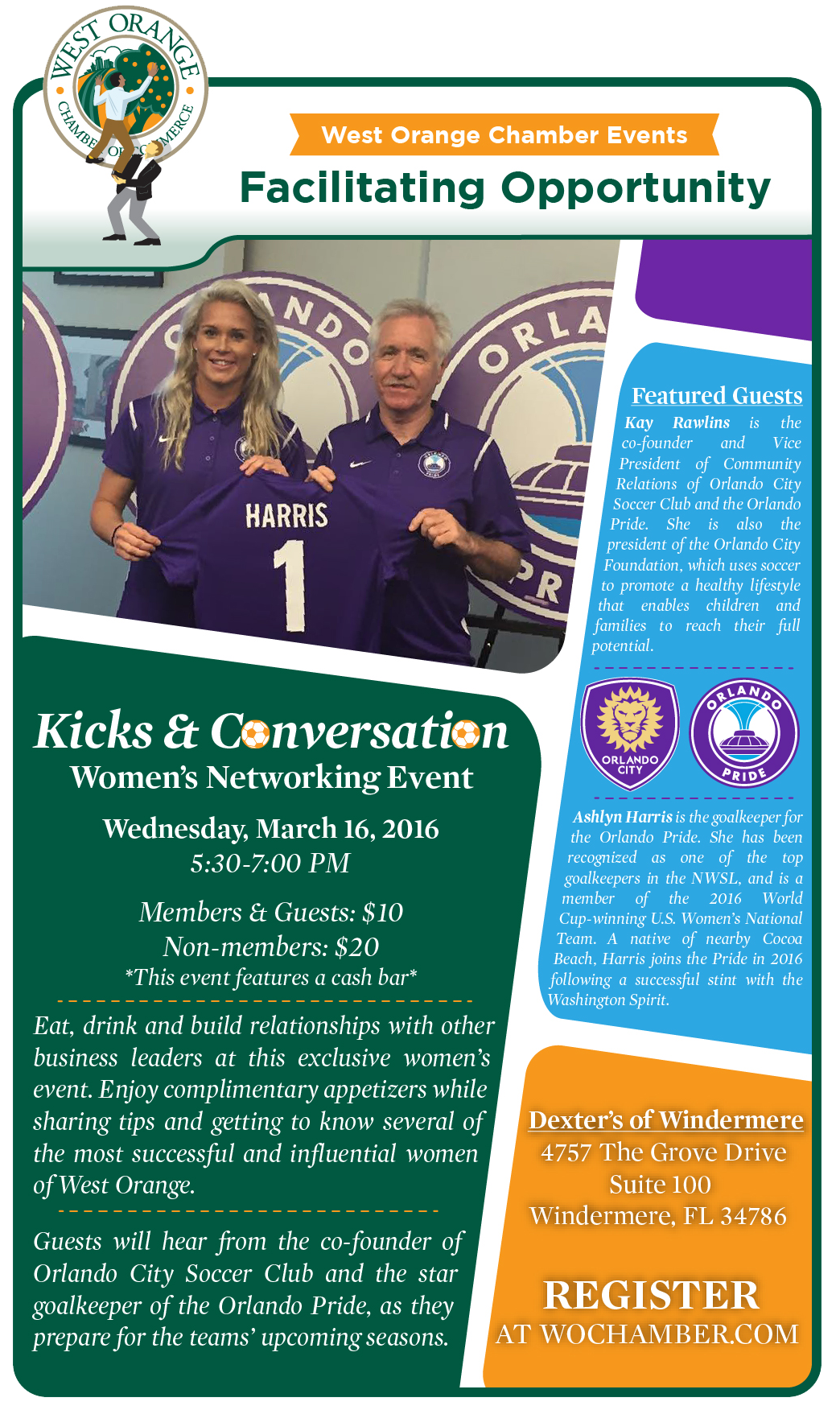Click for more information on Kicks & Conversation!