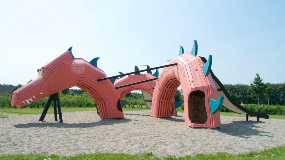 Dragon at the Park of possibilities in Aalborg