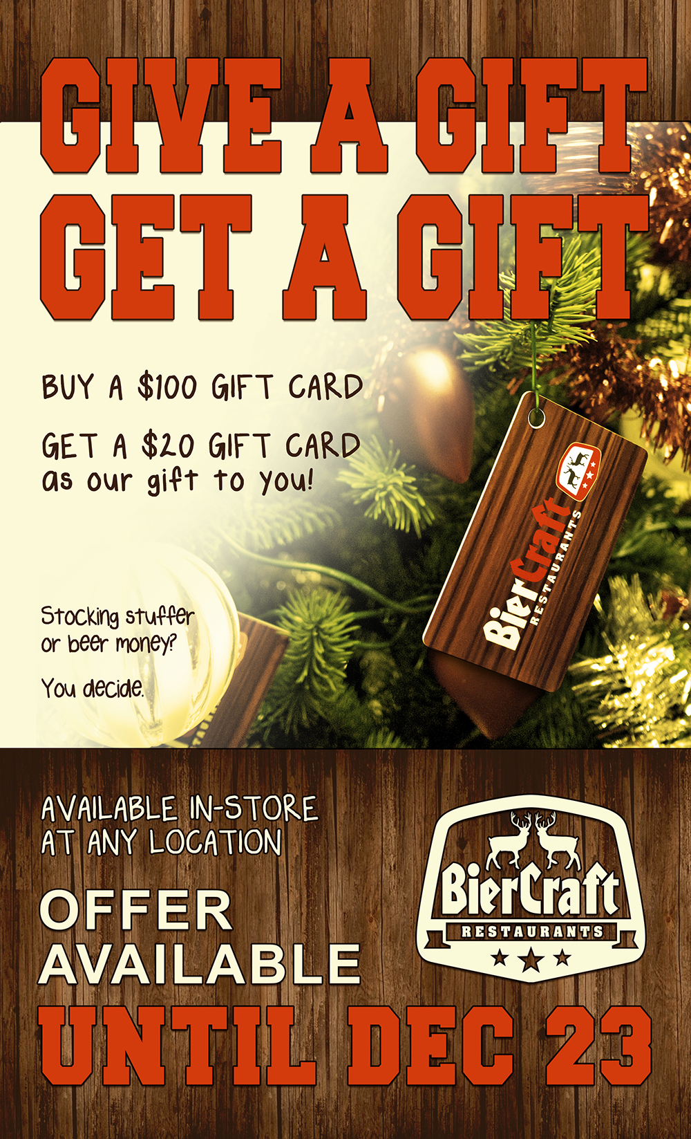 BierCraft Gift Card Promotion