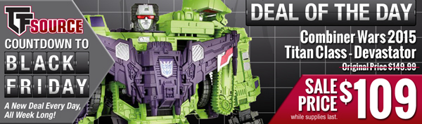 Transformers News: TFsource SourceNews - Countdown to Black Friday!
