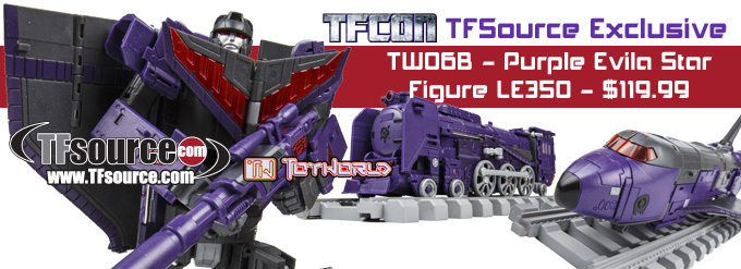 Transformers News: TFsource Weekly SourceNews! TFcon ToyWorld Exclusive Evila Star Preorder, New Arrivals and More!