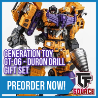 Transformers News: TFsource News! GT Duron Drill, OpenPLay Big Spring, Robot Hero Durden/Barney, FlameToys Drift & More