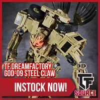 Transformers News: TFSource News - MS Opti/Soprano, FT Hoodlum, DF Steel Claw, TF Element TE-01 OP, Zeta Restock & More