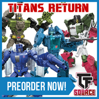 Transformers News: TFsource News! Weekend Sale - DX9 Carry - $129.99! Masterpiece, Titans Return, Shredder & Unicron!