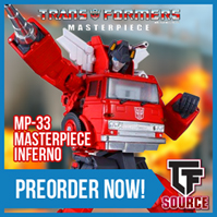 TFsource News! Masterpiece Inferno, DX9 Gewalt, Takara Legends, Fans Toys & More!