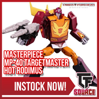 Transformers News: TFSource News! MP-40 Targetmaster Hot Rodimus, MPM05 Barricade, TW Constructor Green/Clear & More!